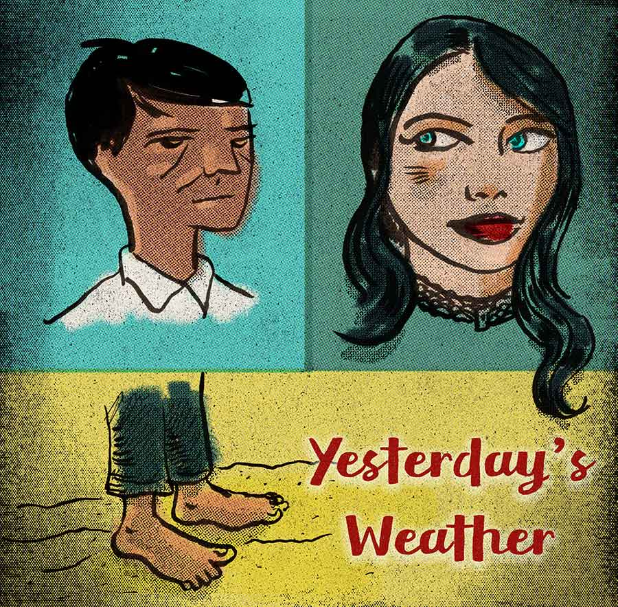 Illustration titled: Yesterday's Weather