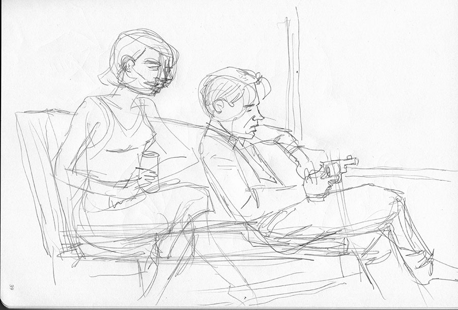 Illustration titled: Pencils for Waiting For The Money