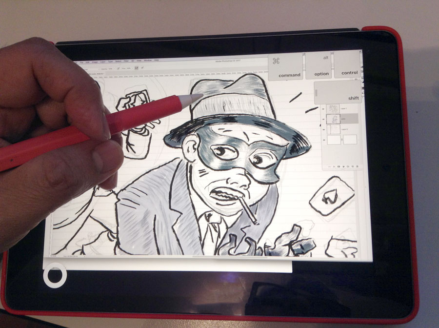 Photo of drawing on the iPad.