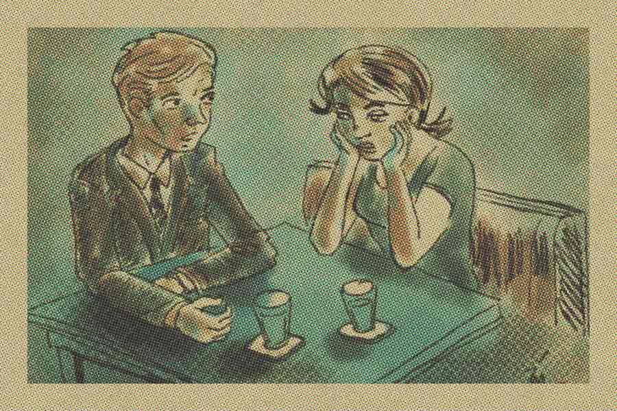 illustration titled: Diner Talk
