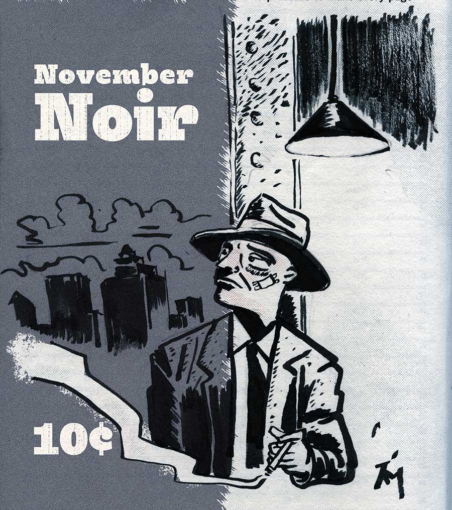 illustration titled: Noir November.
