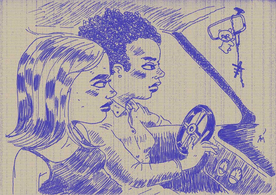 illustration titled: The Drive.