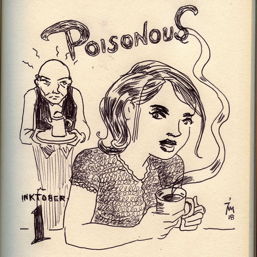 illustration title: Inktober 01: Poisonous.