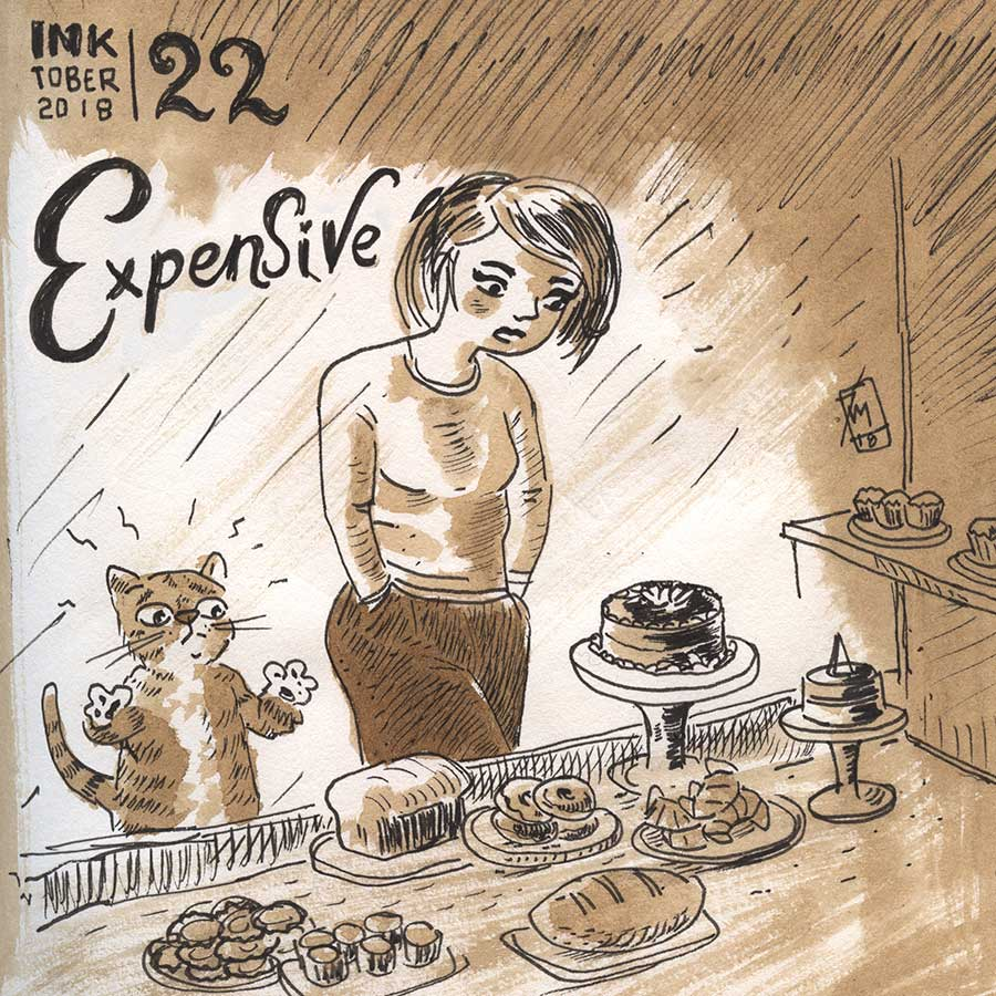 illustration title: Inktober 22: Expensive.