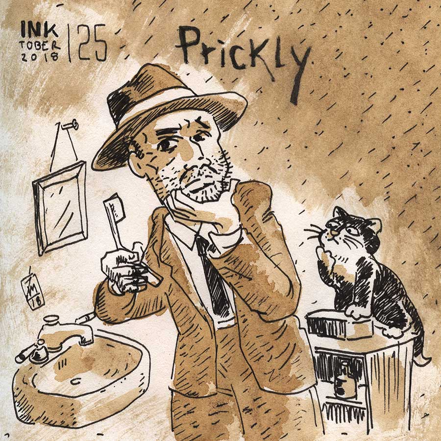 illustration title: Inktober 25: Prickly.