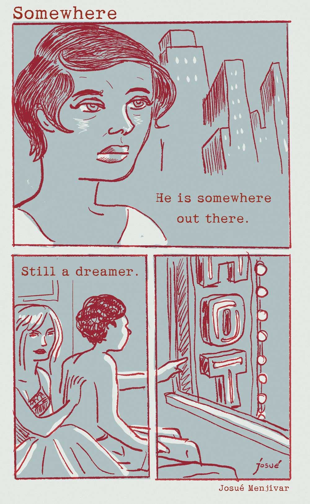 short comic story titled: Somewhere