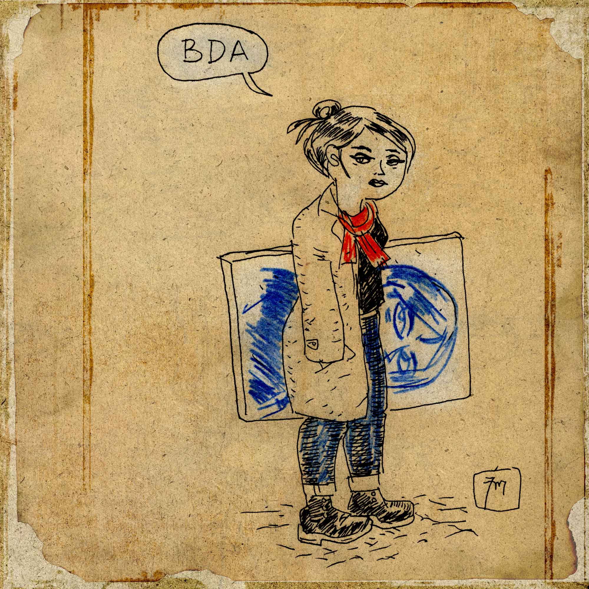 illustration titled: BDA