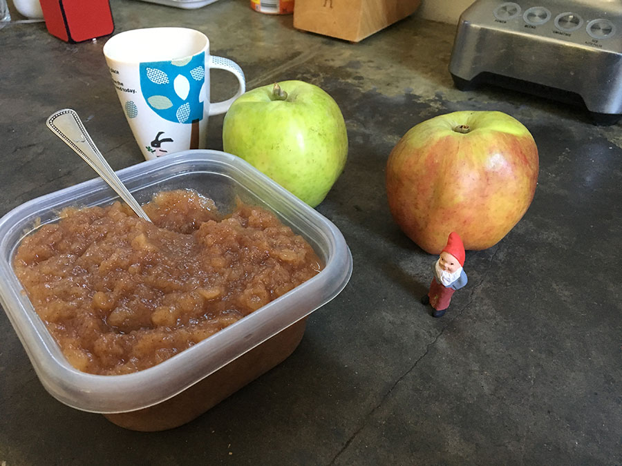 Photo of a home made apple sauce