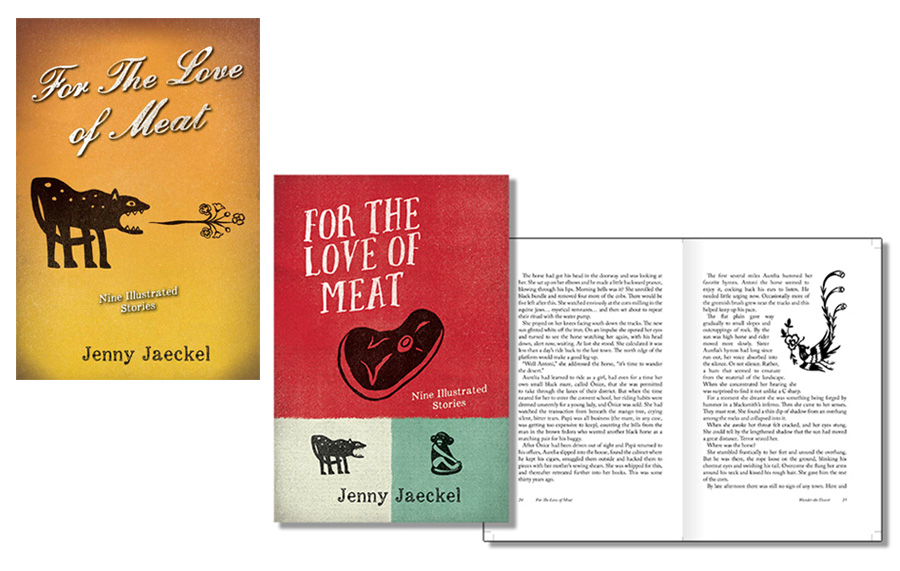 For The Love Of Meat book layout